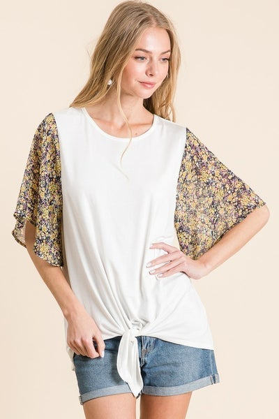Sunflower Sleeve Top