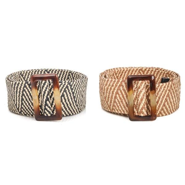 Braided Buckle Fashion Belt