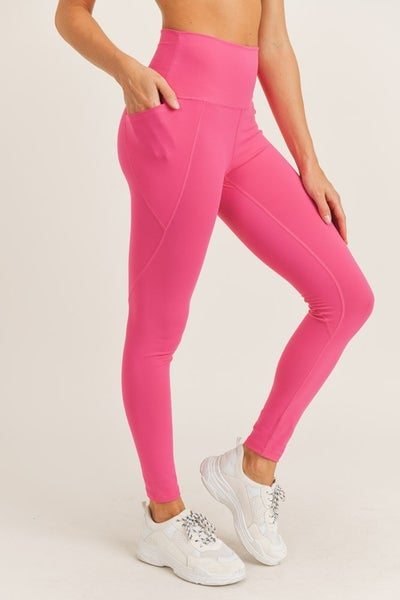Tapered Solid High Waist Leggings