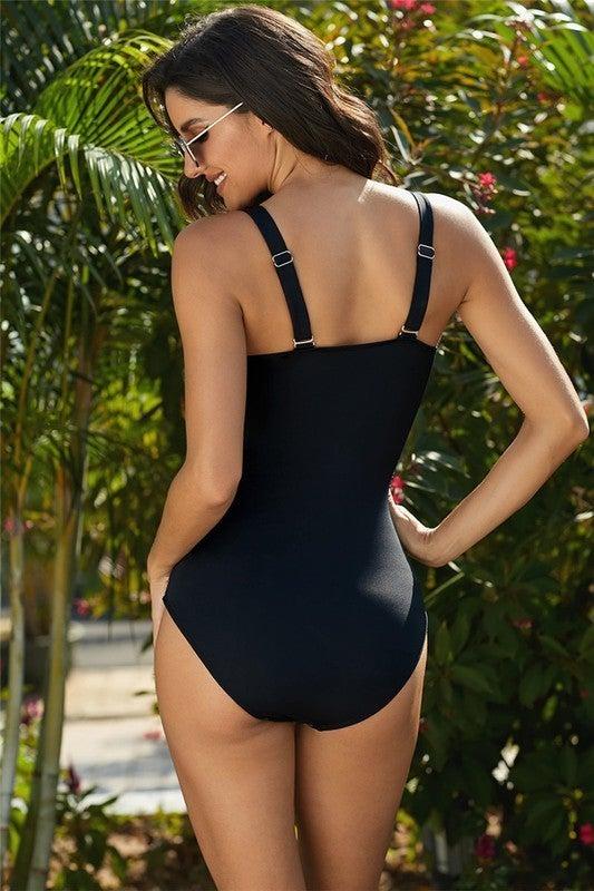 Cross Wrap One Piece Swimsuit