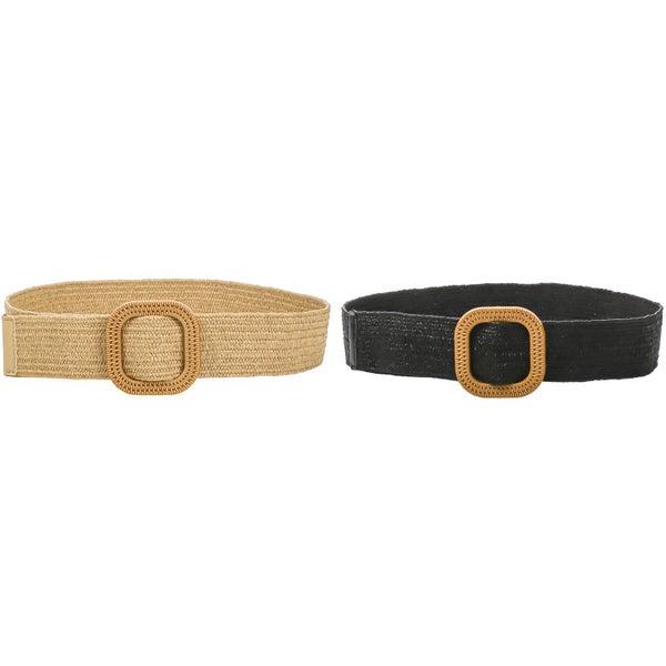 Square Buckle Braided Fashion Belt