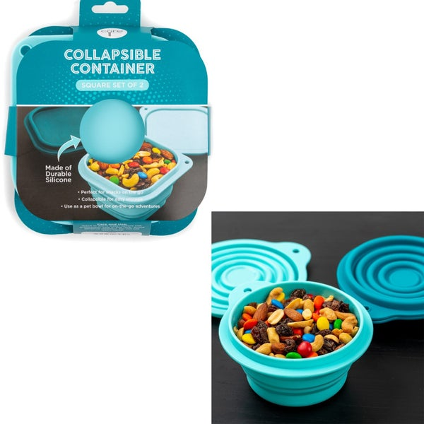 2pc Collapsible Food Containers