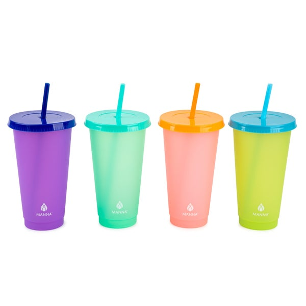 4-Pack 24oz Color Changing Tumblers