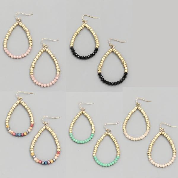 Bead Teardrop Earrings