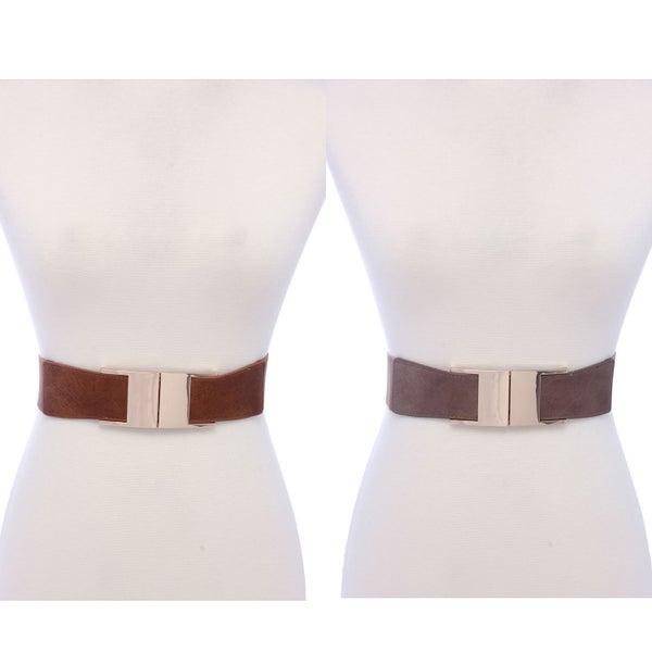 Metal Buckle Elastic Belt