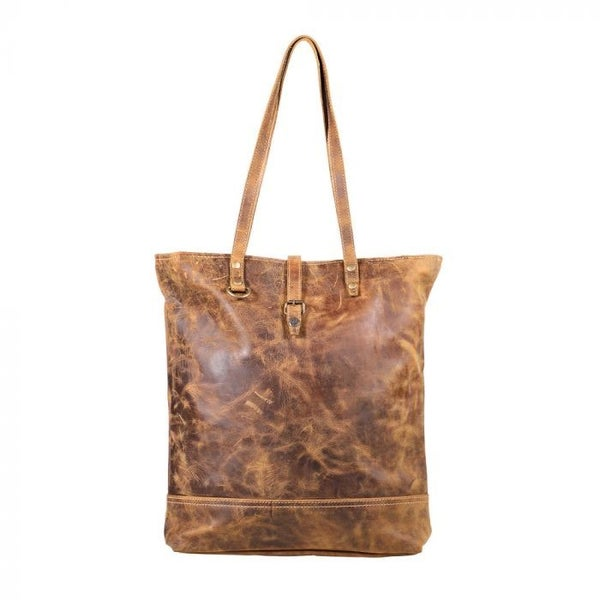 FLEECE LEATHER TOTE MYRA BAG