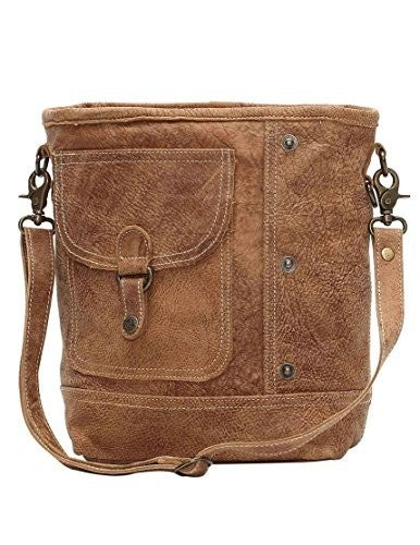 Myra Flap Pocket Genuine Leather Shoulder Bag