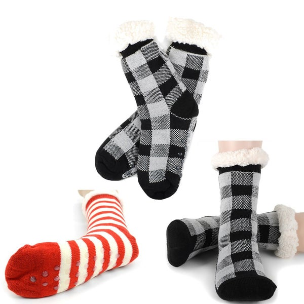 Plush Fleece Lined Sherpa Slipper Socks