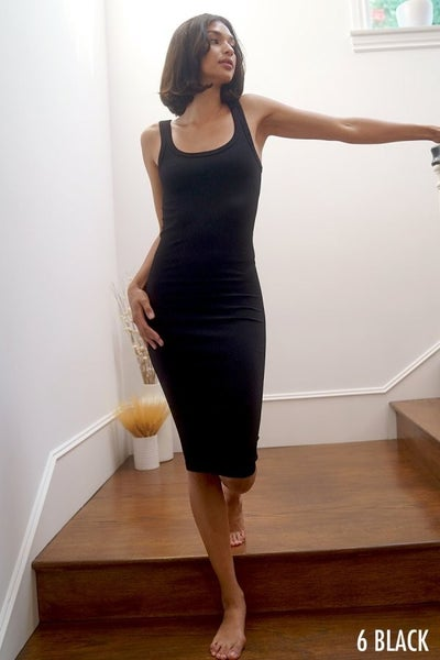 Ribbed Date Night Dress
