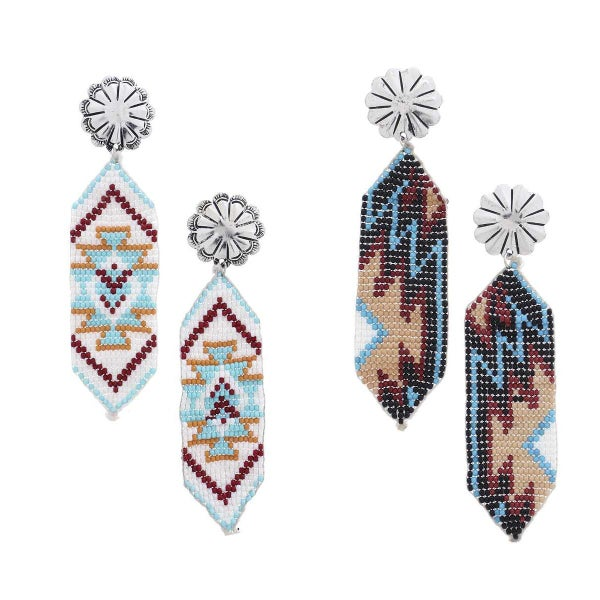 WESTERN PATTERN DROP EARRING