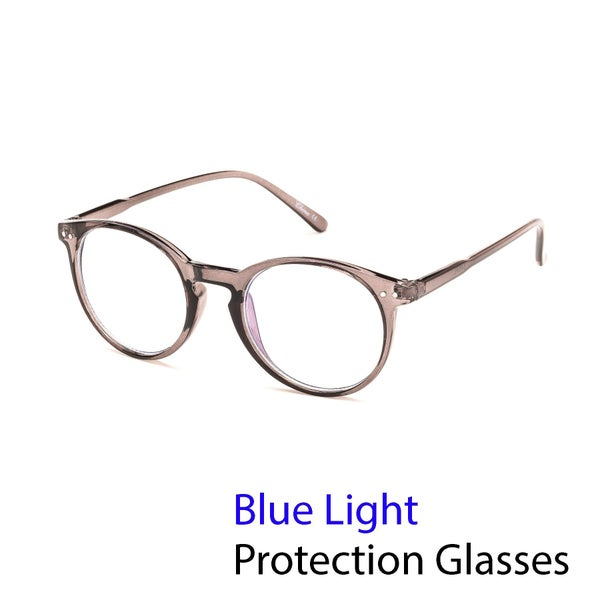 Vintage Round Weightless Blue Light Computer Glasses