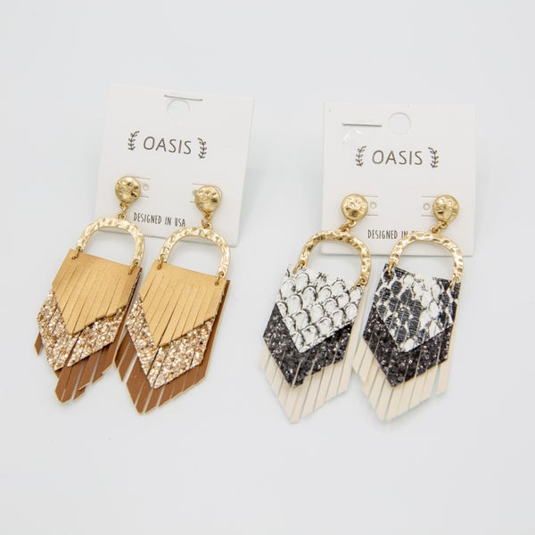 Leather Love Earrings