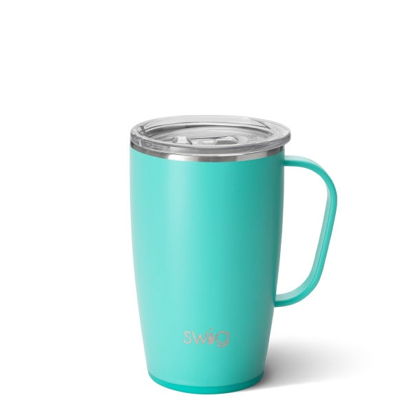 Matte Aqua Swig Travel Mug (18oz)