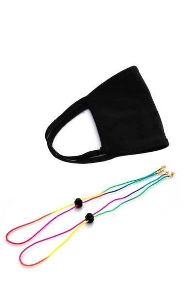 2PCS. RAINBOW FACE MASK LANYARD STRING