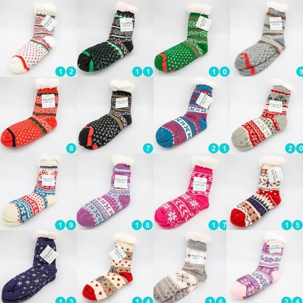 SnowFlake Fuzzy Warm Cozy Socks