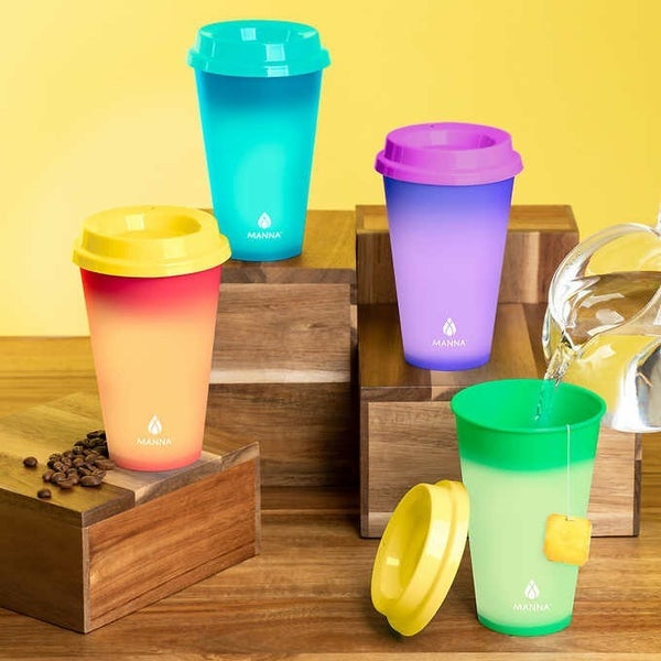 Set of 4 16oz Hot Color Changing Cups