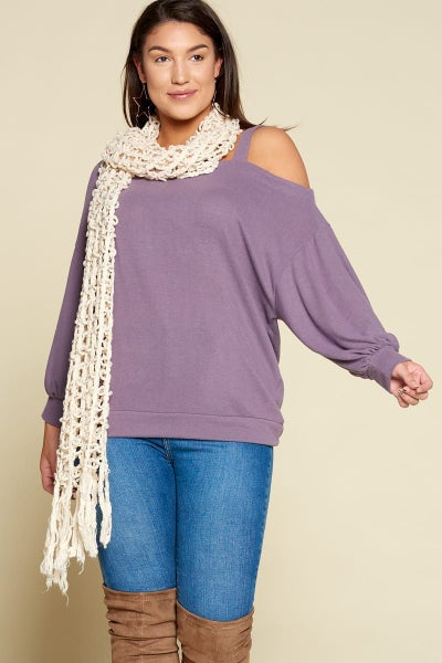 Hacci Cold Shoulder Top