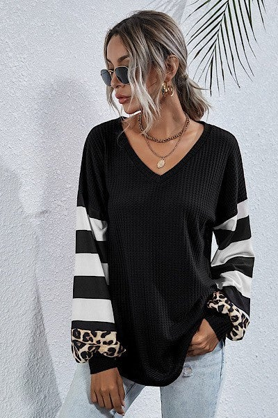 Simply Striped Animal Top