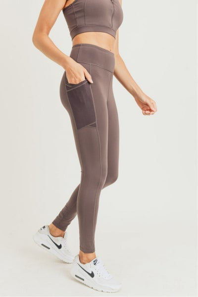 Overlay Mesh Pocket Highwaist Leggings