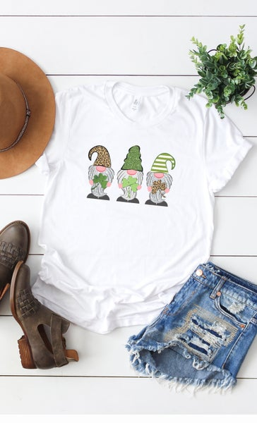 Lucky Gnomes Shamrock Graphic Tee