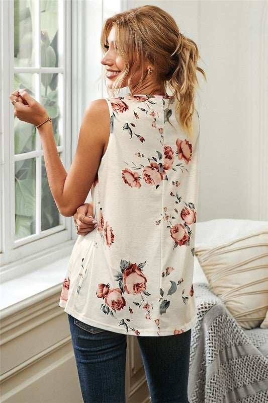 Relaxin Floral Tank