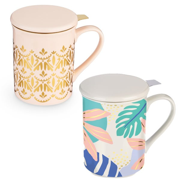 Annette  Knit Ceramic Tea Mug & Infuser