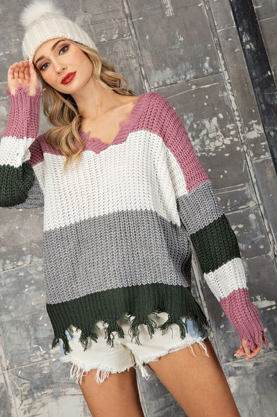 Distressed Darling Sweater