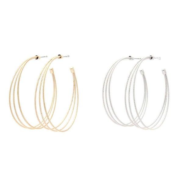 Metal Open Hoop Earring (2 Colors)