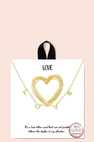 LOVE MESSAGE NECKLACE