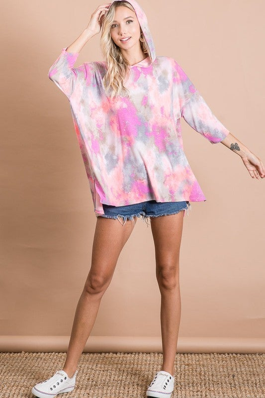 Light & Dyed Hoodie Top