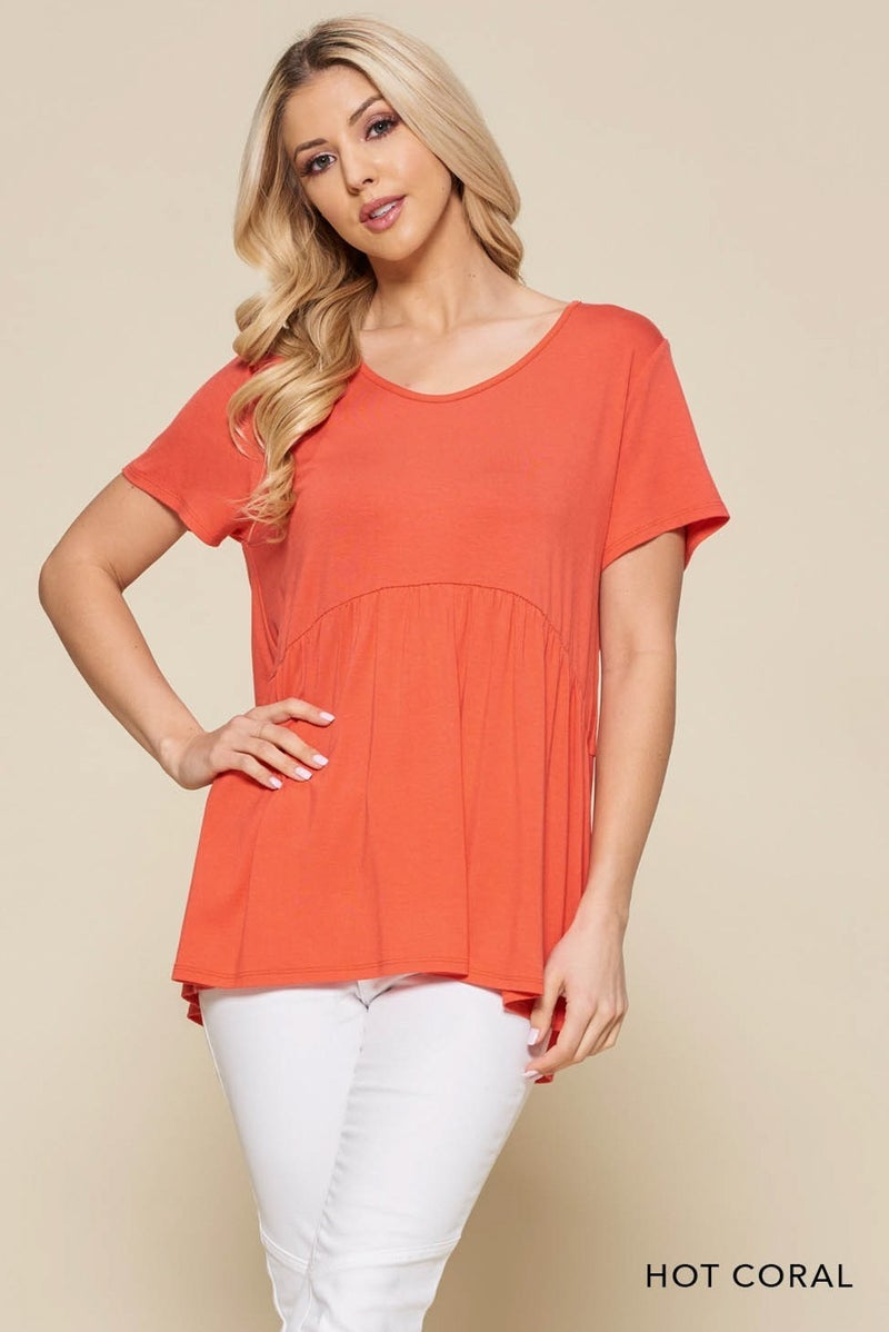 Hot Coral Top