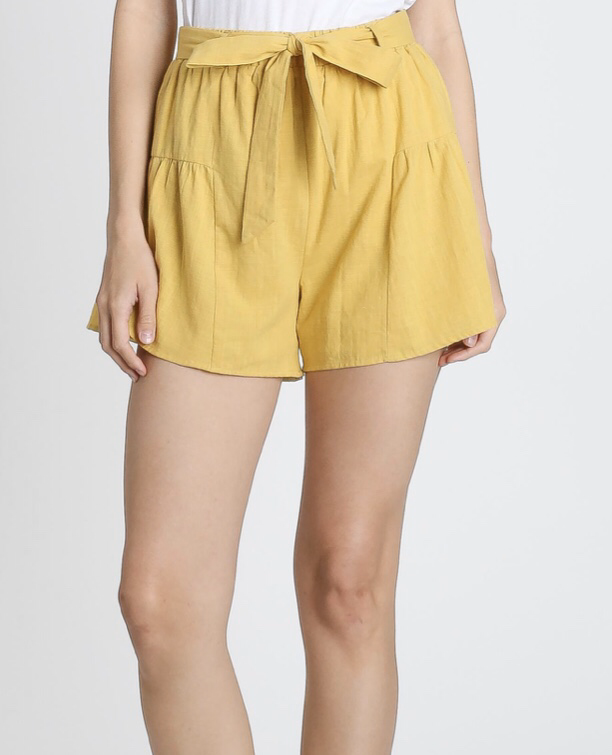 Self Tie Linen Shorts