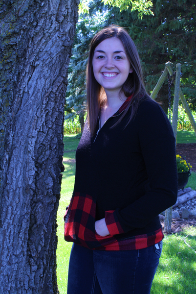 Black & Red Plaid Zip Up Pullover with Pocket