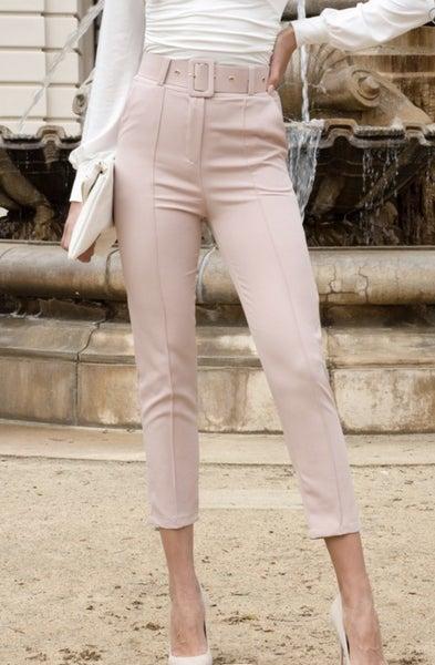 Powder Pink Dress Pants