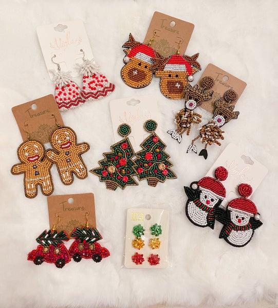 SALE / Christmas Earrings Remix