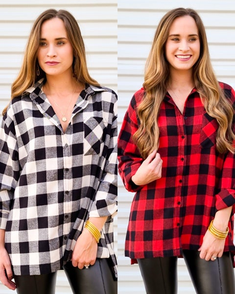 Checking Out Flannel Shirt