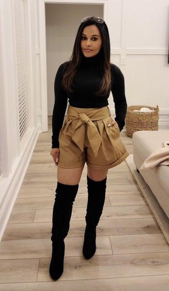 Beau Leather Shorts