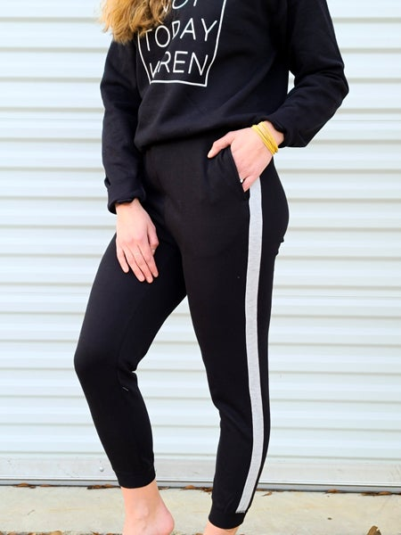 Mind Code Striped Joggers