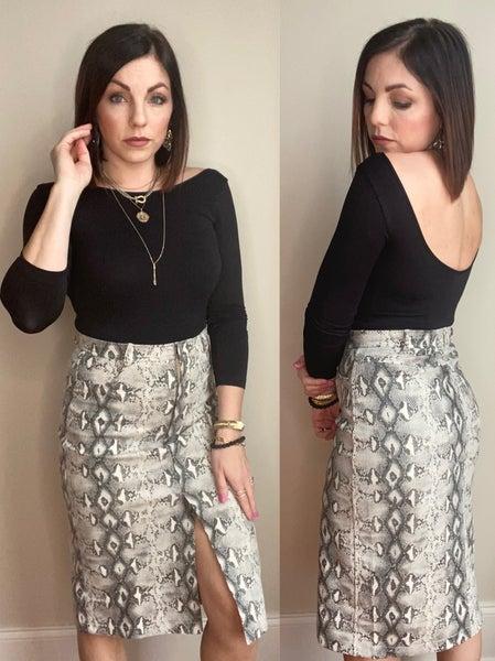 Snake Slit Skirt