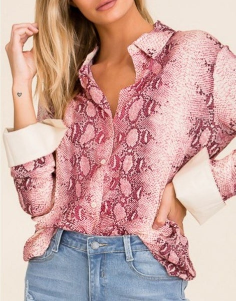 Slither My Way Blouse