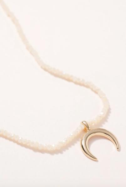 Half Moon Charm Short Necklace