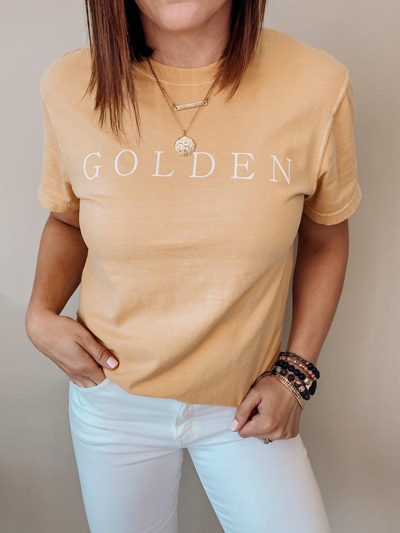 Golden Graphic Tee