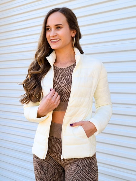 SALE / Creamy Dreamy Puff Jacket