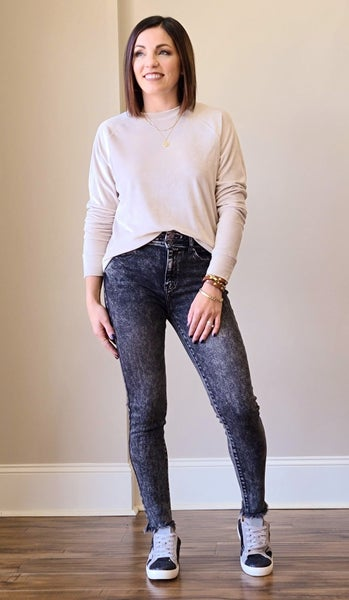 SALE // Black Acid Jeans