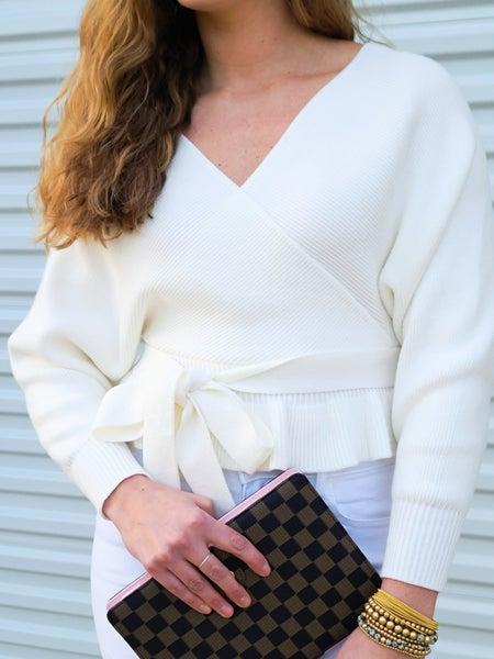 SALE / Peplum Sweater