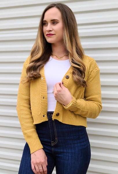 Collective Knits Crop Cardi