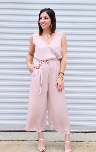 SALE/Belted Culotte Jumpsuit