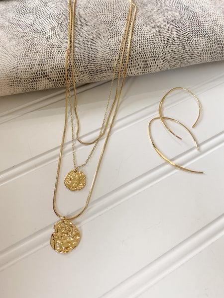Double Disc  Necklace