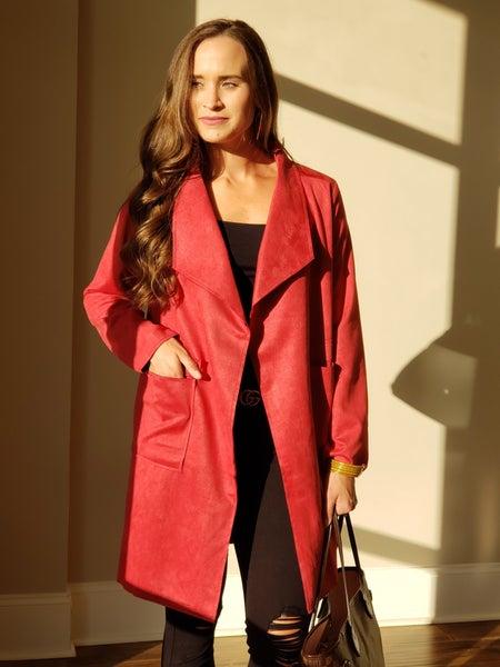 SALE / Swanky Suede Coat