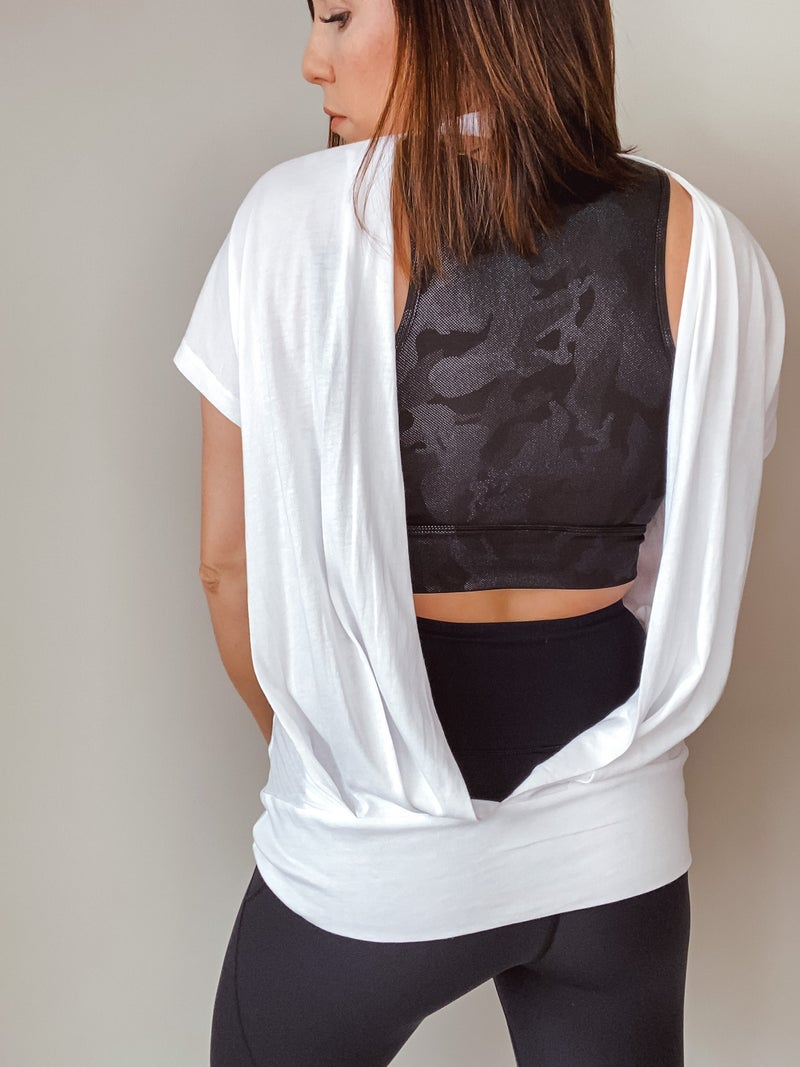 Open Back Athleisure Top